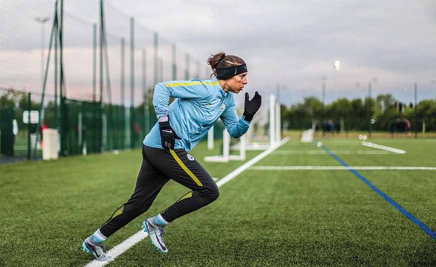 Manchester City's Carli Lloyd in training