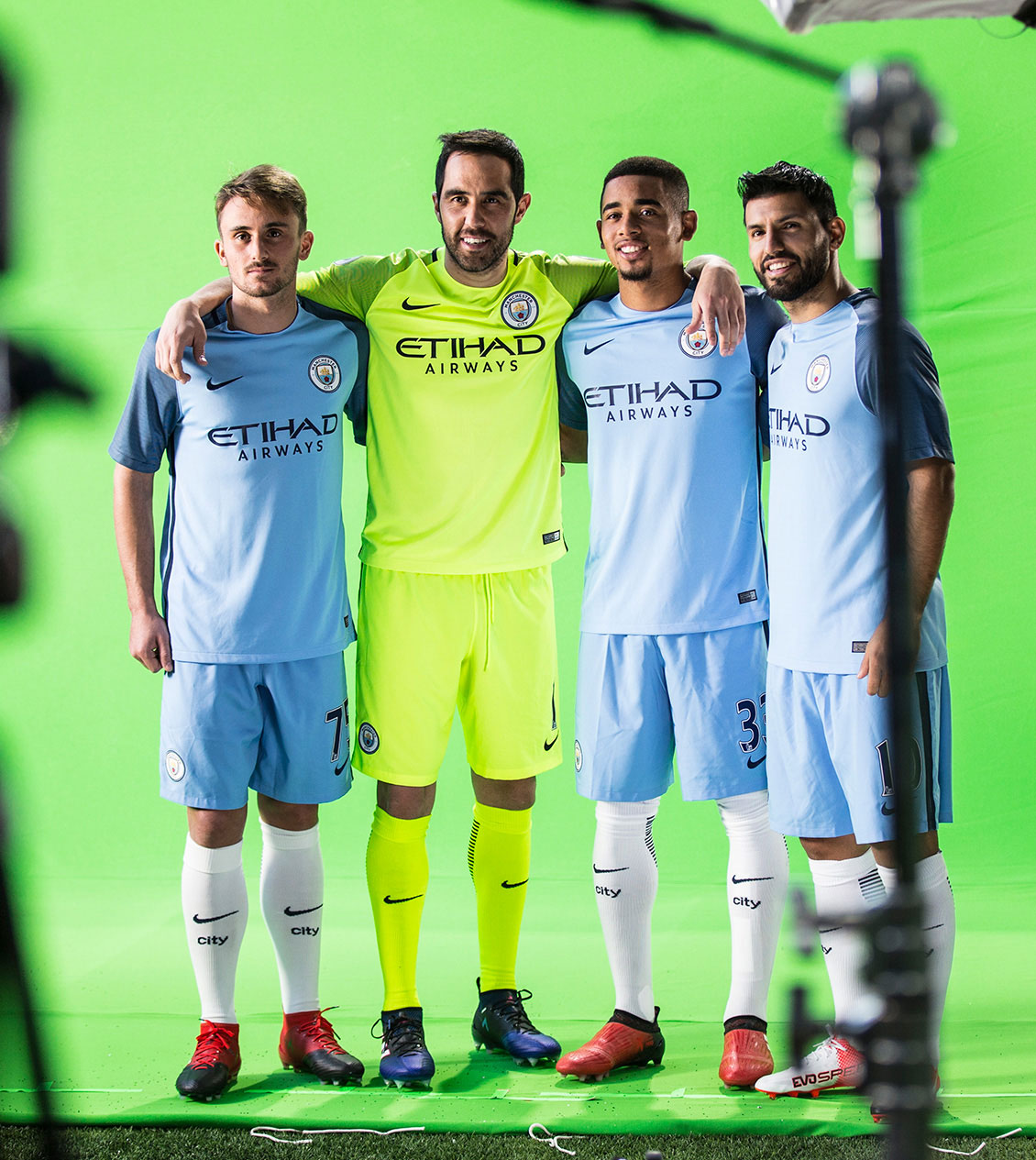 City players take part in a custom Wix advert