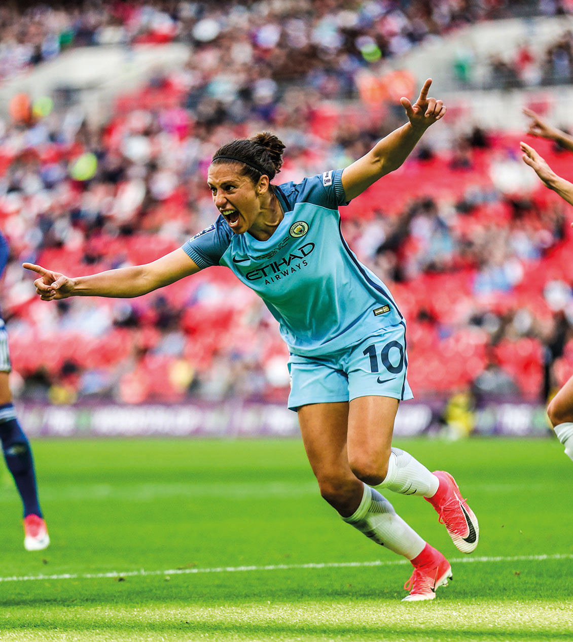 Manchester City's Carli Lloyd celebrates scoring in the FA Cup Final