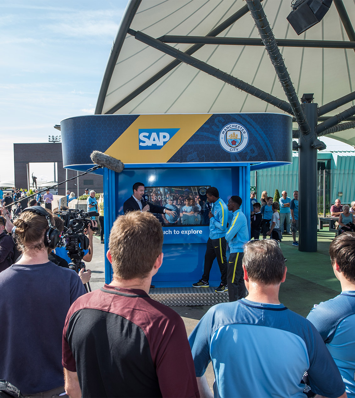 The SAP booth in City Square at the Etihad Stadium